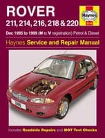 HAYNES WORKSHOP REPAIR OWNERS MANUAL ROVER 211 214 216 218 220 95 - 99 N TO V